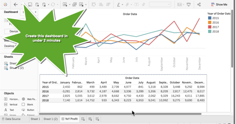 Tableau Quick Tip: How to create a Year over Year Dashboard