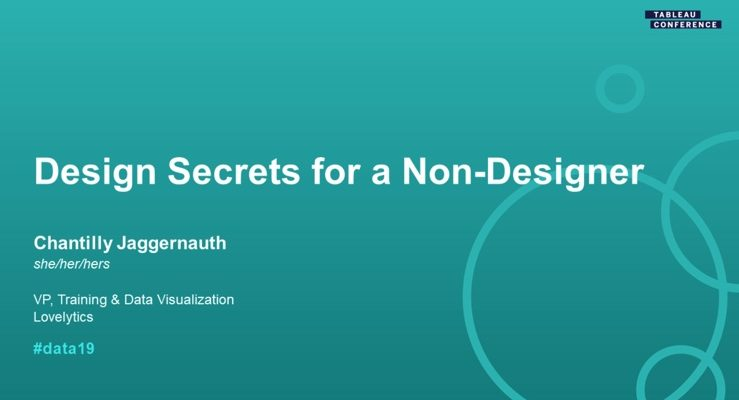 "#Data19 Session ""Zen Master: Design Secrets for a Non-Designer"""